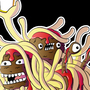 The flying spaghetti monster by SemiCubic