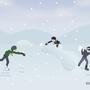 Snowball Fight by Jvanimator