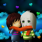 Asriel and Frisk (Undertale Fanart)