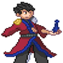 Pixel Art Auron by thief9