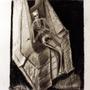 sekeleton in chair by SchermerhornArts