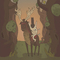 Cowboy Dog Surveys The Forest