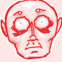 creepy red man