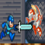 What megaman does when he gets A sword power up