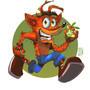 Crash Bandicoot by geogant