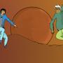 concept fight scene by bornracer
