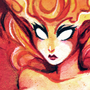Fire Elemental - Watercolor by Sabtastic