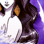 Watercolor Zebra Demon Girl