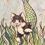 Mermaid Kitten by HandDrawnViolist