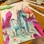 Crystal unicorn by Fantasyart12