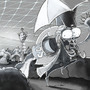 Bulgy-eyed murderer in Green Clean Park floating in space. by SollyArt