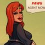 Black Widow -PAWG Agent - Cartoon PinUp by HugoTendaz