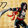 Colored version drawing of DC Comics' Katana from the Suicide Squad movie. I have a rule that all Fe by eMokid64