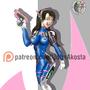 d.va overwatch fanart by akosta3201