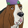 Birthday Basset Hound by Sketchead