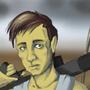 Random Character - Apocalypse Survivor Sitting by shaino123