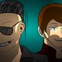 Papa Jon + Mitch by Maccamuffin