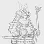 Happy little samuirai panda wip by SimonT