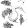 Various Dragon Sketches by ShadowElite951