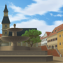 Summer Town Square - The Tale Teller by zeedox
