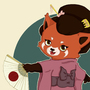 Red Panda Geisha by Amie-de-Boer