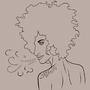 Cool Afro Girl by Calybar