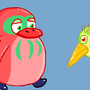 Warbled Bubberwing & Sour Jay by Bertn1991