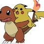Pikachu and Charmander