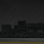 Nuit noire sous la pluie