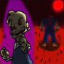 Evil Jimmy and Akuma by TopNotchCancerReadin
