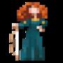 Day #134 - Princess Merida of DunBroch by JinnDEvil