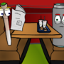 doobie and beer eat breakfast by ericpolley