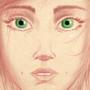 Beautiful face by sketchywarior