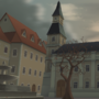 Town Square Late Autumn - The Tale Teller by zeedox
