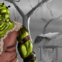 Orc camping in the woods by sketchywarior