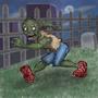 Runnin' Zombie by AwesomeSaurus