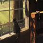 Cat in Window by kittenbombs1