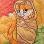 Burrito Kitten by HandDrawnViolist