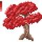 Maple Bonsai Tree - Pixel Art