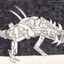 Mechanical beast ink drawing