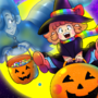 Gwendy & Ghost Halloween Wallpaper by doublemaximus