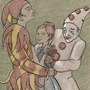 Harlequin, Ballerina, and Pierrot. by LauraBR