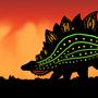 Stegosaurus Sunset by BrandonP
