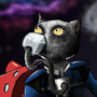 Space Biker Cat by lairlair