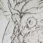 Inktober #1: Owl's wrath! by HlihorAlecsandra