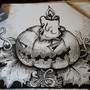 Inktober#2 Evil pumpkin