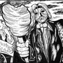 Inktober/Drawlloween #2 'Mr Vile's snack' by CalebHarms