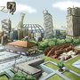 2D illustration city by arjun07
