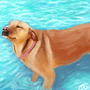 Waterdog by artbycaiti
