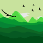 Green Landscape Illustration by TrueNedax
